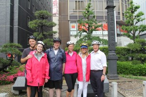 Cycling at Nihonbashi