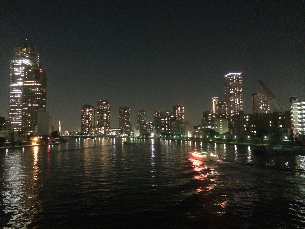 Tokyo evening bike tour